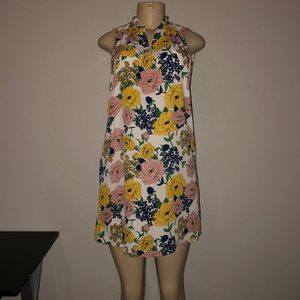 New Floral print sleeveless dress